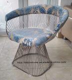Leisure Dining Restaurant Metal Cushion Outdoor Steel Wire Chair