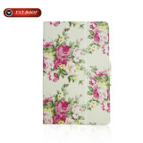 Stand Flip Cover Print Flora Leather Tablet Case for iPad