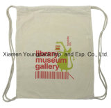 Promotional Custom Printed 100% Cotton Calico Library Backpack Bag