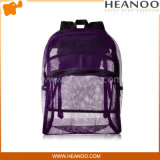 See Thru Purple Girls Womens Mesh Bags Backpacks for School