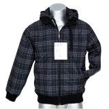 Men′s Fashion Printed Check Casual Jacket