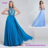 Sleeveless Two-Tone Chiffon Full A-Line Evening Dress
