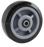 Heavy Duty Swivel PU Caster (Black) (with dust cover)