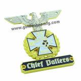 New Design Customized 3D Logo Gold Metal Badge