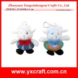 Christmas Decoration (ZY14Y696-1-2) Christmas Stuffed Sheep Toy Handmade Craft