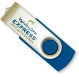 USB Flash Drive, Promotional Swivel USB Flash Drive, 2G Twist Pen Drive