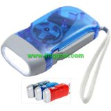 Hand Pressing LED Dynamo Torch