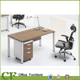 Simple Design Office Wood Table with 3-Drawer Cabinet