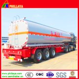 3 Axles Crude Oil Tanker Transportation Fuel Tank Semi Trailer