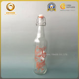 Decorated Spirited 750ml Beer Glass Bottle with Flip Top (904)