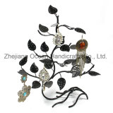 Wrought Iron Earrings Metal Rack (wy-4452)