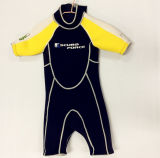 Short Neoprene Surfing Wetsuit with Nylon Fabric (HX15S66)