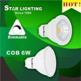 38 Degree Beam Angle Dimmable 6W COB GU10 LED Spotlight