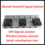 6bands Adjustable Powerful RF Signal Jammer for Signal Signal Isolator