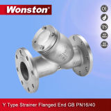 Stainless Steel Y Type Strainer with Flanged End GB Pn16/40