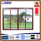 Aluminium Window with Aluminium Frame and Glass Panel