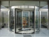 Building Entrance Use Four-Wing Automatic Revolving Door with Exhibition Box