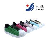 Women′s Fashion Sport Shoes Ostrich Grain PU Upper Bf170106