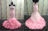 Wholesale A-Line Pink Wedding Dresses with Flower Train (W36)