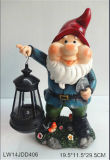Polyresin/Resin Gnome Sculpture for Garden Decoration (JN0303)