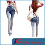 High Waisted Back Cross Women Suspenders Jeans (JC1213)