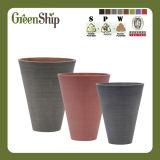 Decorative Round Plastic Flower Pot/Garden Planter