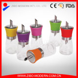 Glass Sugar Dispenser with Colorful Plastic Cap
