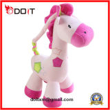 Stuffed Musical Sleeping Comfort Rattle Soft Plush Pull String Baby Toy