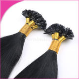 Hot Fusion U Type Keratin Remy Hair Jet Black Colored Human Hair Extensions