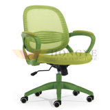Wholesale Solid Plastic Armrests MID-Back Office Swivel Mesh Chair