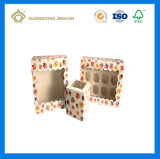Luxury Hot Sale Custom Macarons Box with PVC Window (Cup cake Packing Box)