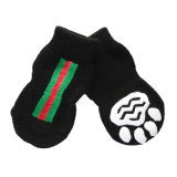 Cool Black Knitting Cotton Anti-Skid Dog Socks Pet Accessories