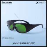 O. D5+@900-1070nm / ND: YAG Laser Safety Glasses with Great Transmittance
