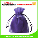 Promotional Beautiful Transparent Organza Drawstring Gift Bag for Jewelry&Candypacking