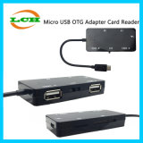 Android Micro-USB to 2*USB TF/SD Card Reader OTG Hub Adapter