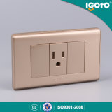 Golden Color 118 Type Receptacle for Peru Market