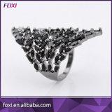 Glass Gemstone Brazil Style Rings Semi Joias Anel
