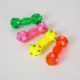 Dumbbell Shape Dog Vinyl Toy Pet Squeaky Toy