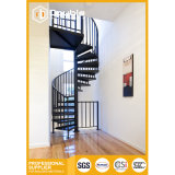 Indoor&Outdoor Modern Steel Spiral Staircase with Steel Handrail Stairs Design