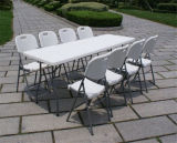 8FT Rectangular Folding Table with One Piece on Top, Party, Events, Banquets Table