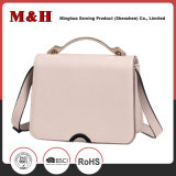 Simple Solid Color Tosoco Leather Ladies Handbag with Tablet Computer