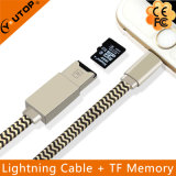 2 in 1 OTG Microsd Card Reader + Charging Cable for iPhone iPad iPod Touch (YT-RC001)