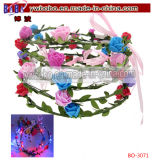LED Flower Hairband Headband Light-up Wedding Accessory (BO-3071)
