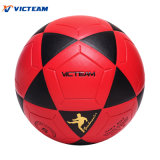 Nice Looking Red and Black Durable Glued Football