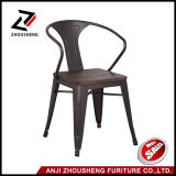 Gun Metal Color Outdoor Restaurant Chair with Wooden Seat and Armrest Zs-T05-18