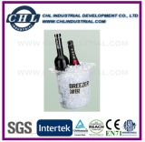 Promotional Plastic Portable Ice Bucket with Two Ear Handle