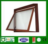 Aluminum Profile Top Hung Window with Wood Grain Finished