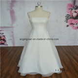 Floor Length Organza Strapless New Style Wedding Dress
