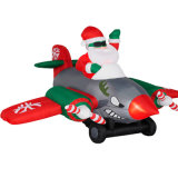 Inflatable Xmas Airplane Party Decoration Display