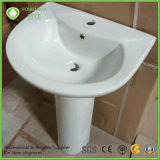 Competitive Price 20 Inch Ceramic Pedestal Wash Basin